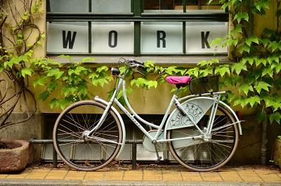 "Work"" sign"""